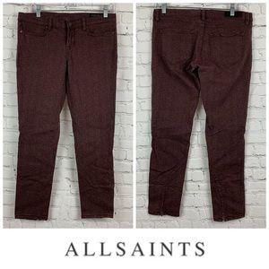 All Saints Ambie Brodie Paisley Skinny Jeans 👖